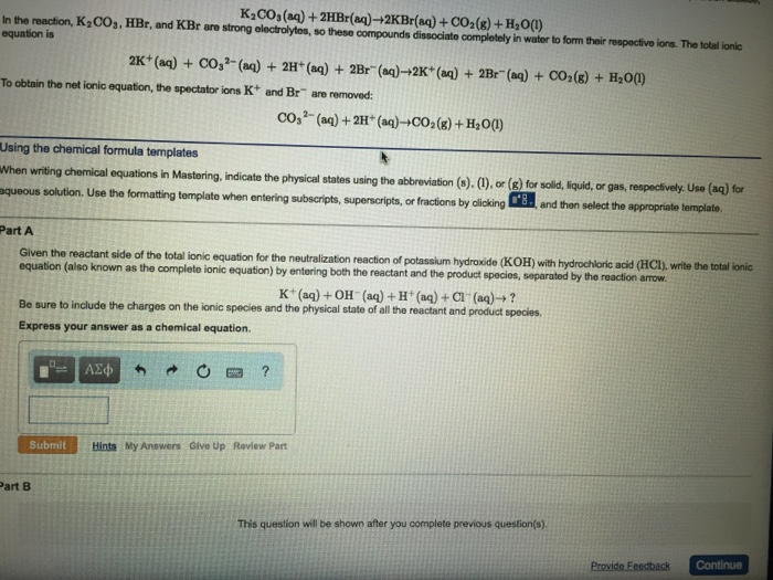 write a balanced net ionic equation for each reaction h2c2o4 koh h2o