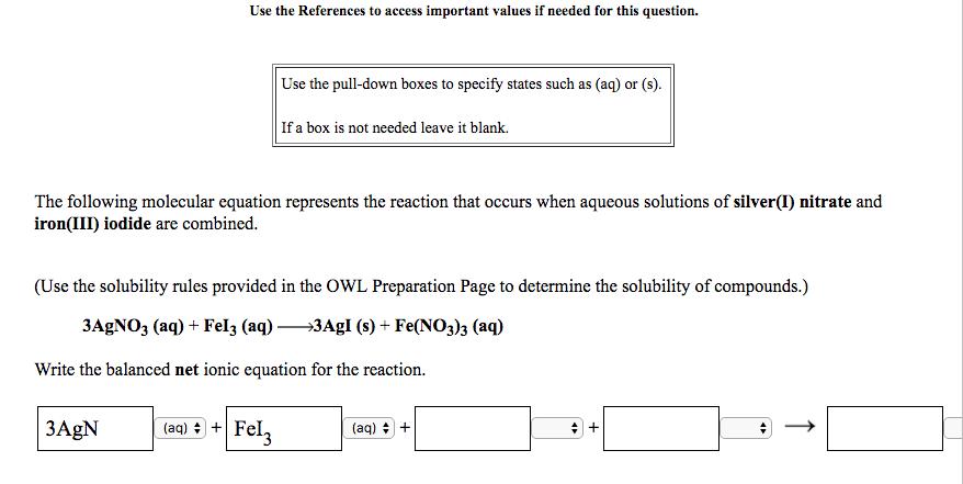 precipitation reaction worksheet