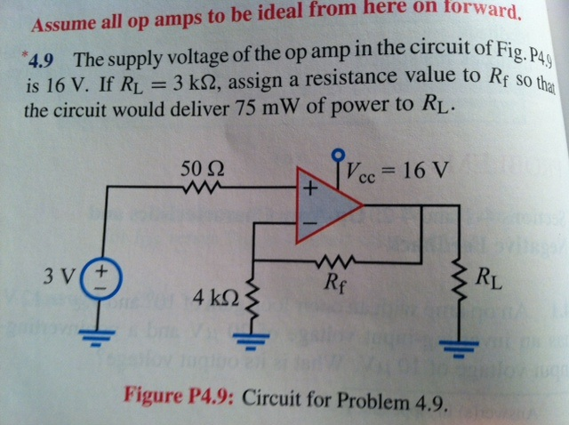 The supply voltage of the op amp in the circuit of