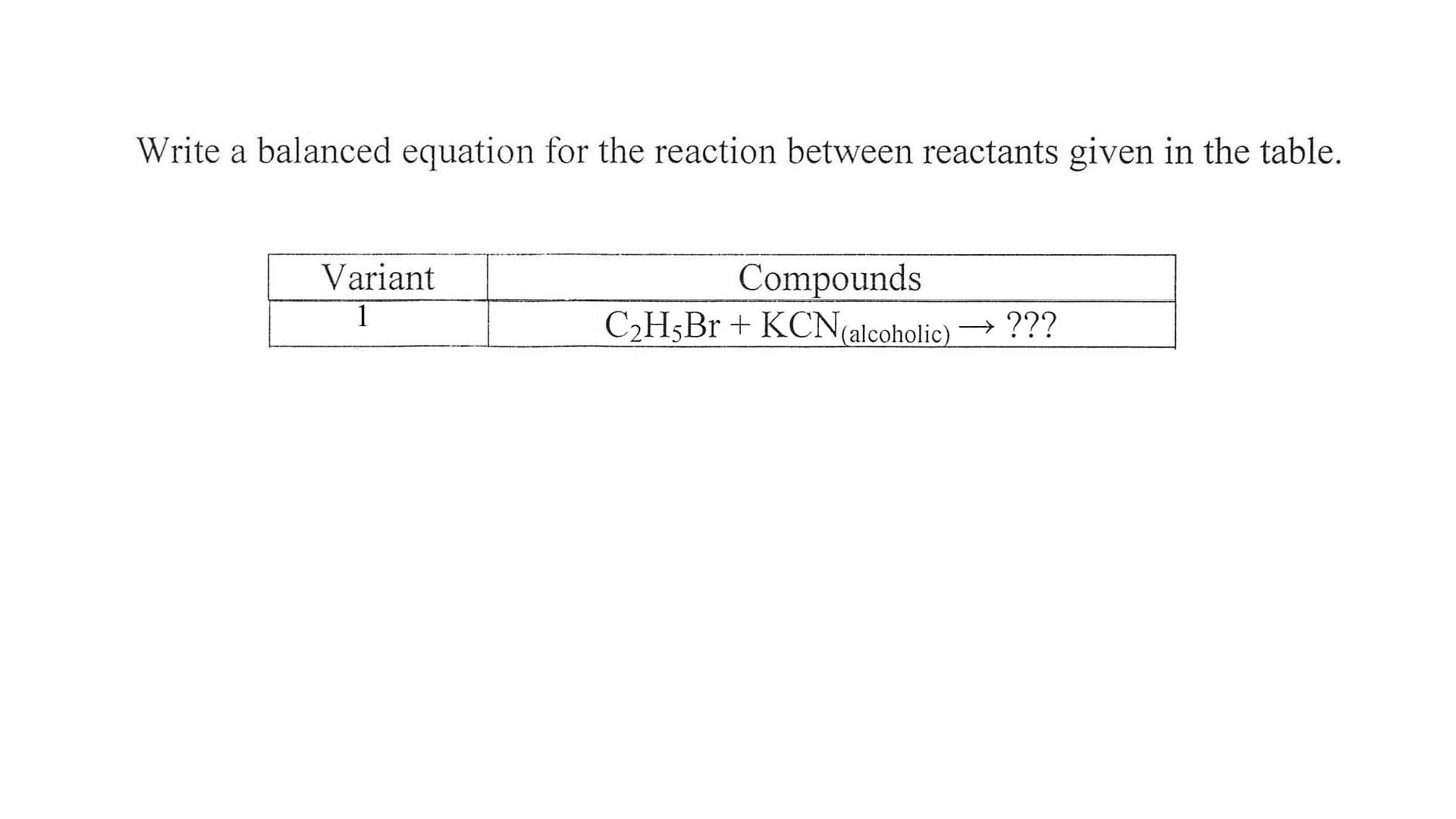 Substitution reaction between methane and bromine
