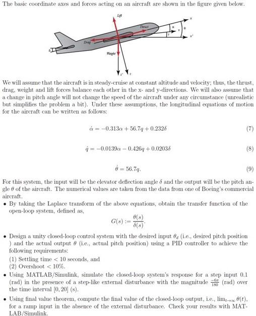 Aircraft equation of motion thesis writing