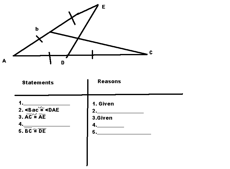 Filling out reasons and statements in geometry
