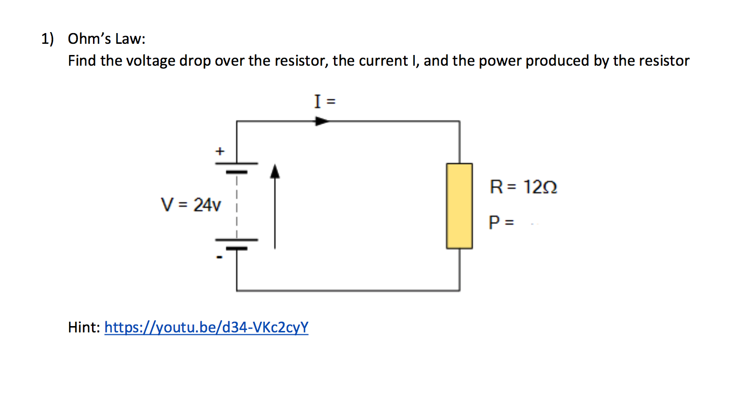 Led Dropping Resistor Calculator Parallel Circuit Voltage Drop Solved Ohms Law Find The Over 1528x826