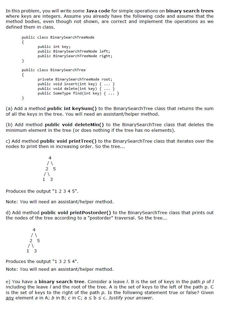 Binary search tree. Adding a value