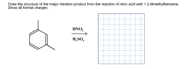 solved  draw the structure of the major nitration product