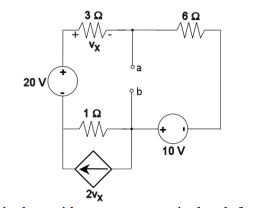 Find the thevenin equivalent circuit. Please show