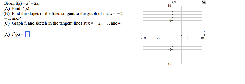 Slopes of secant and tangent lines homework