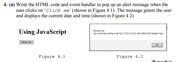 write a code to demonstrate event handling in javascript