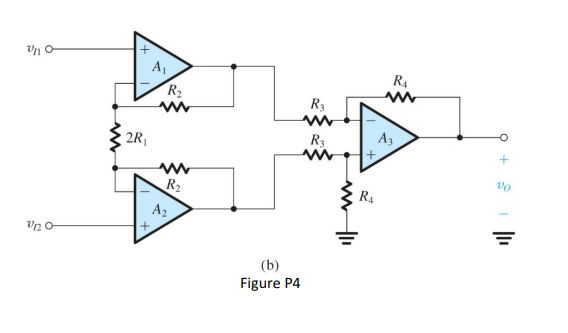 solved  an instrumentation amplifier circuit is shown in f