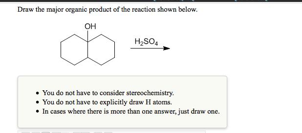 Draw The Major Organic Product Of The Reaction Sho... | Chegg.com