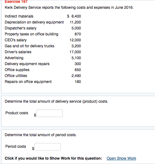 Solved kwik delivery service reports the following costs for Total cost to build a house