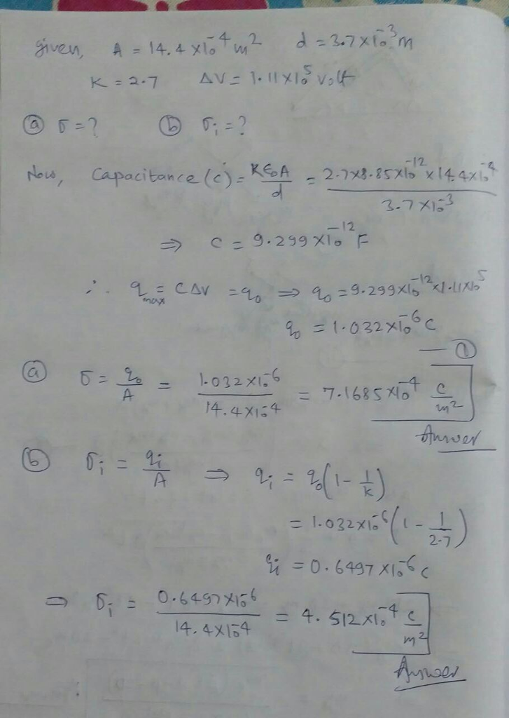 problem solving strategy 24.2 dielectrics