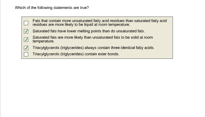 Write my summary statement for unsaturated fats