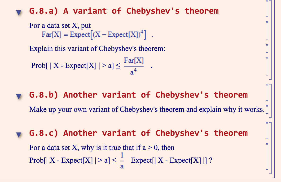 Solved: A Variant Of Chebyshev's Theorem For A Data Set X ...