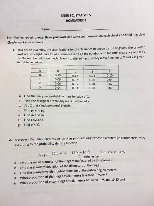 Probability And Statistics Homework Help