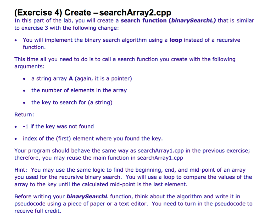 Binary Search Algorithm C++