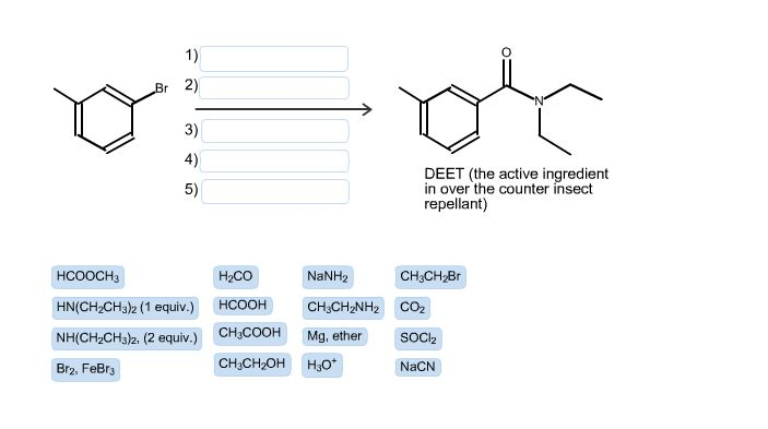 synthesis of m-diethyltoluamide