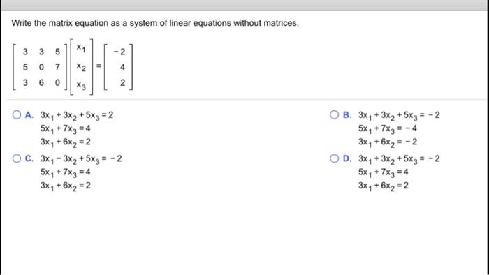 Matrix Equations Calculator