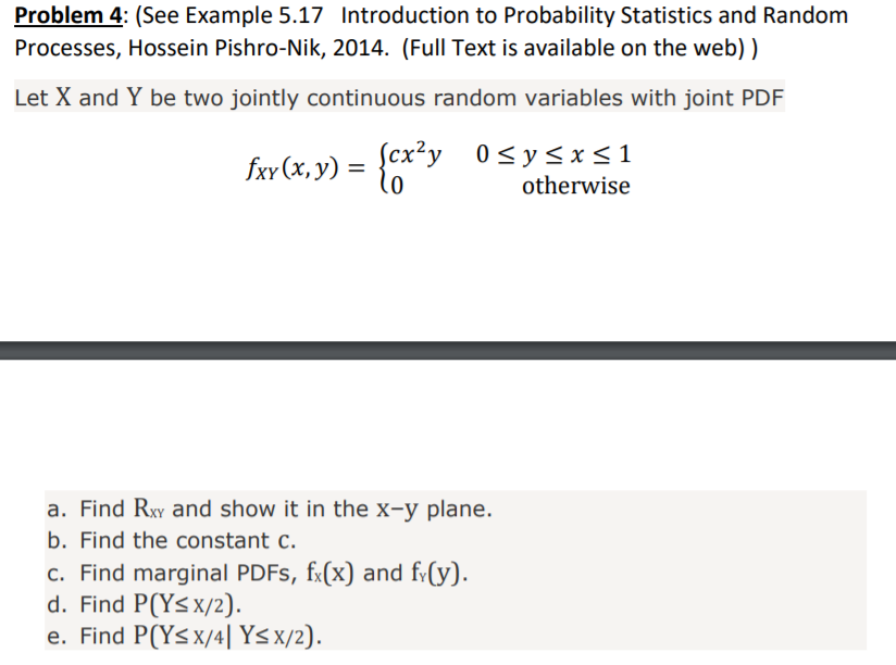 Random pdf and introduction to processes probability statistics