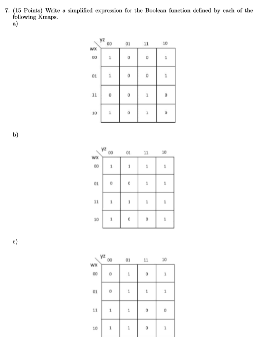 Solved construct a truth table for the following xyz x for Table x and y