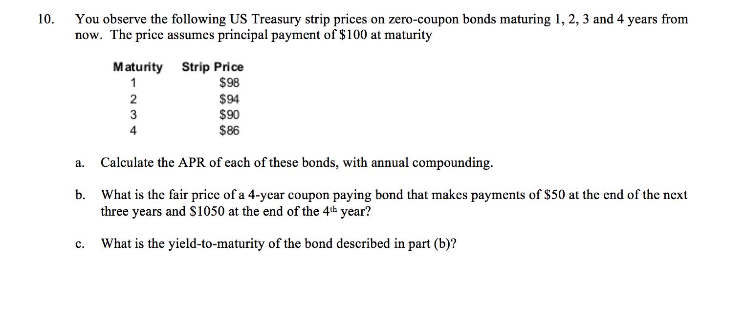 treasury coupon strips