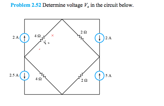 Determine voltage Va in the circuit below.