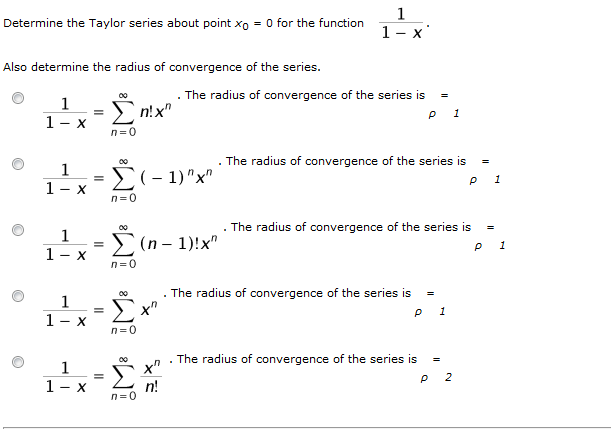 Solved Determine The Taylor Series About Point Xo 0 For T