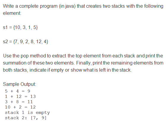 Java Program to Implement Stack using Linked List