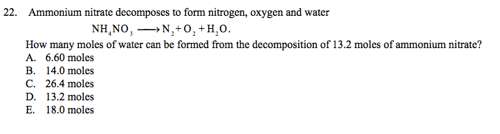 Ammonium Nitrate And Water Reaction 112